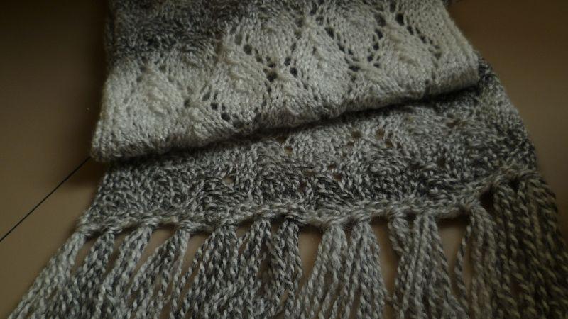 sjaal ajour gebreid