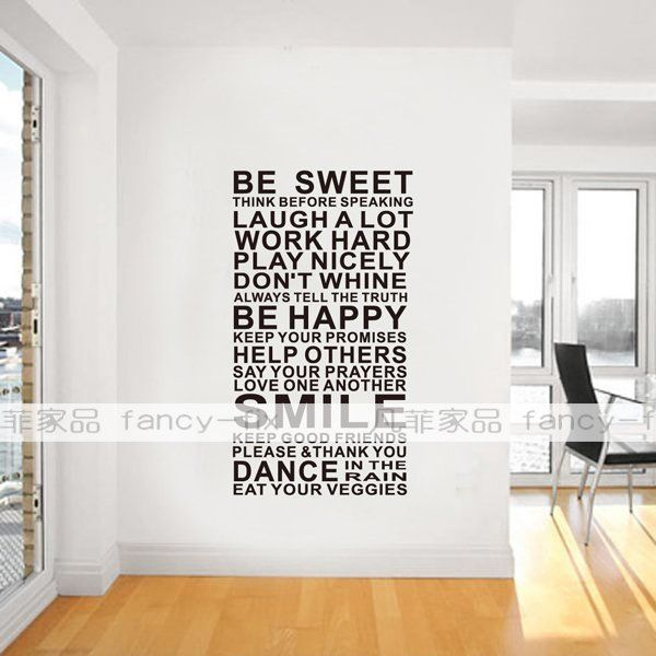 Free Shipping Family Is Vinyl Wall Lettering Quote Wall: Retail Free Shipping House Rules Family Words Quotes Vinyl