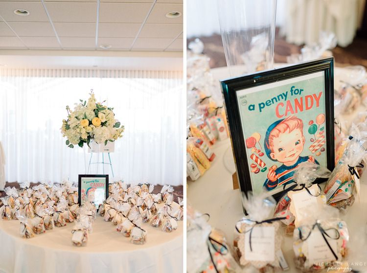 Vintage escort card table at Running Deer Golf Club Wedding | New Jersey Wedding Photographer by Michelle Lange Photography