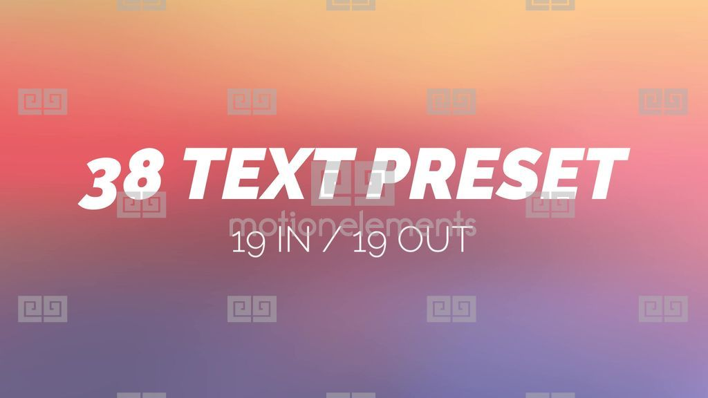 38 text preset after effect after effects template royalty free