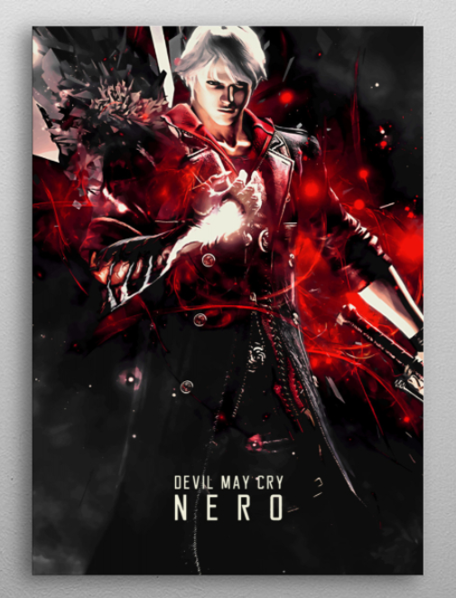 "Devil May Cry 4 Nero poster #Displate explore Pinterest""> #Displate #RedBubble explore Pinterest""> #RedBubble… 