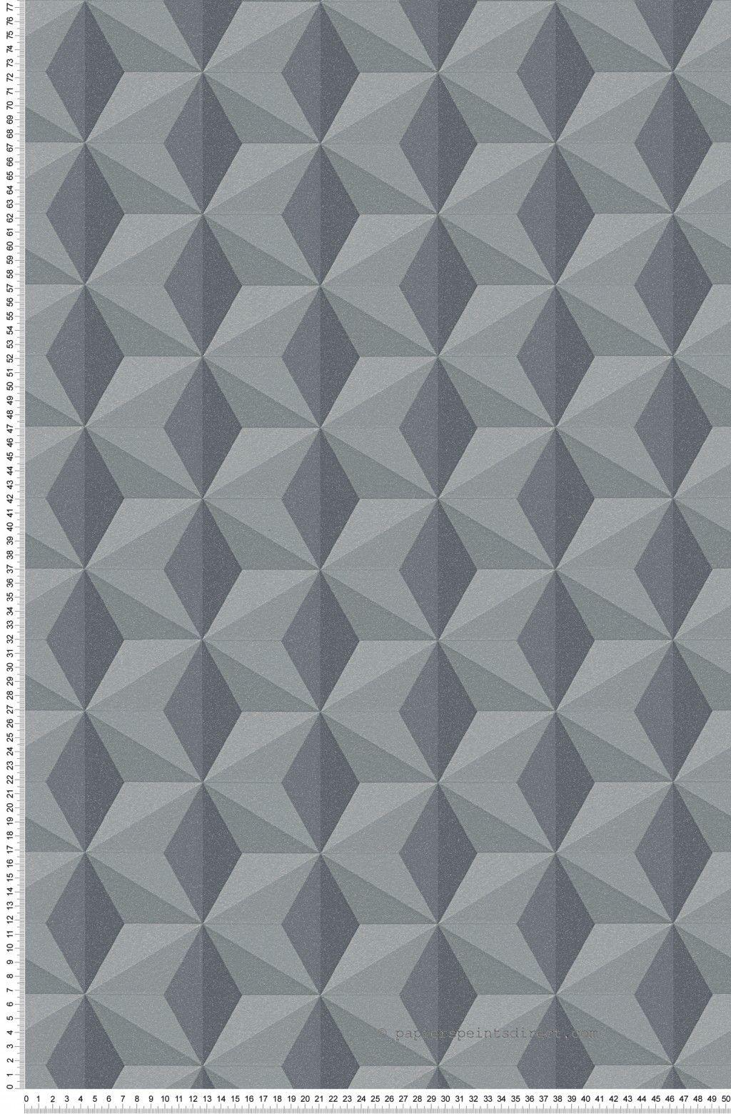 Papier Peint À Motifs à motifs géométriques anthracite noir - life 3 et life 4 d'as création