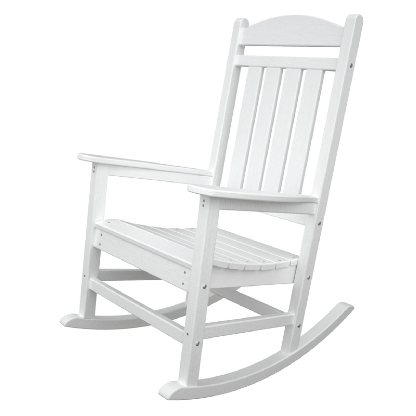 Outdoor PolywoodPresidential Recycled Plastic Rocking Chair White