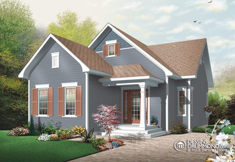 house_plan_maison_plain_pied_Bungalow_W3110 maison Pinterest - Plan Maison En Longueur