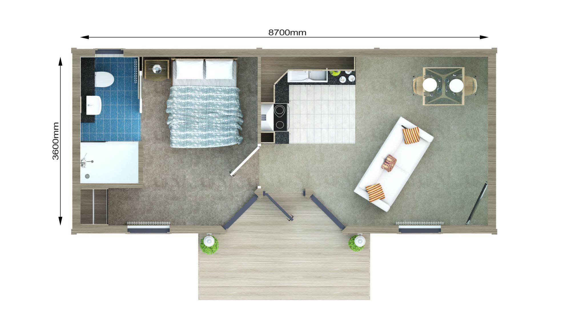 30m2 Cgi 2d Plan Of The Floor Reverend 30m2 Cgi Floor Granny Pods Floor Plans In Laws Plan Reverend Granny Annexe Floor Plans House