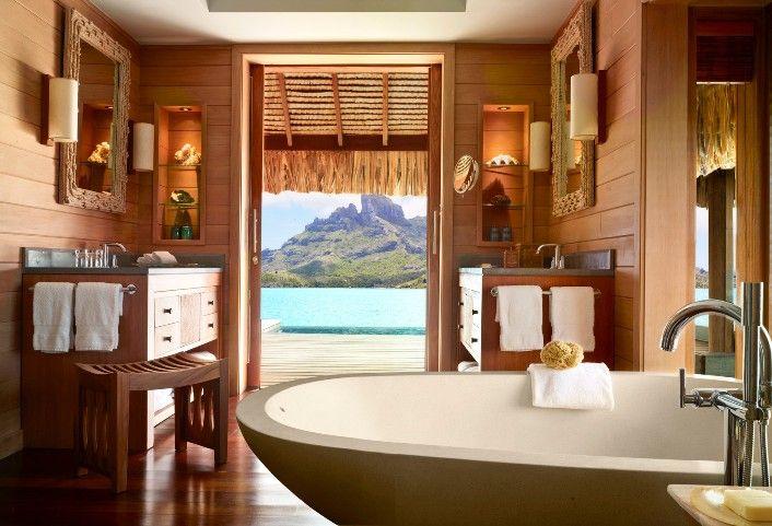 Bathroom In Bora Bora 706 X 481 Water Bungalow