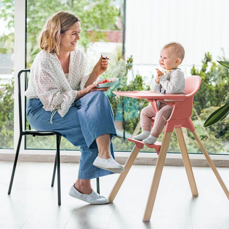 Stokke Clikk High Chair Soft Pink In 2020 High Chair Baby High Chair Chair