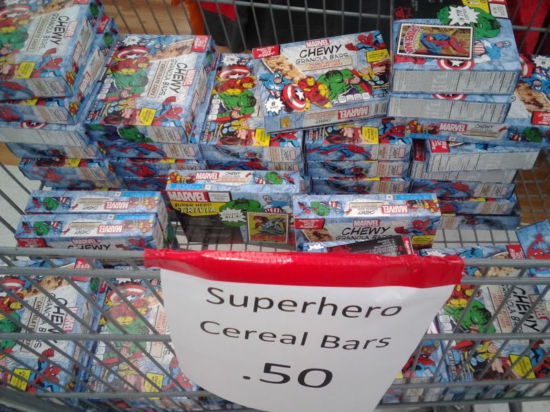 cent marvel superhero chewy granola bars at walmart look for other halloween themed food items like chips cake mixes cookies cupcakes