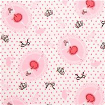 pink Shinzi Katoh double gauze ballet swan ballerina fabric from Japan