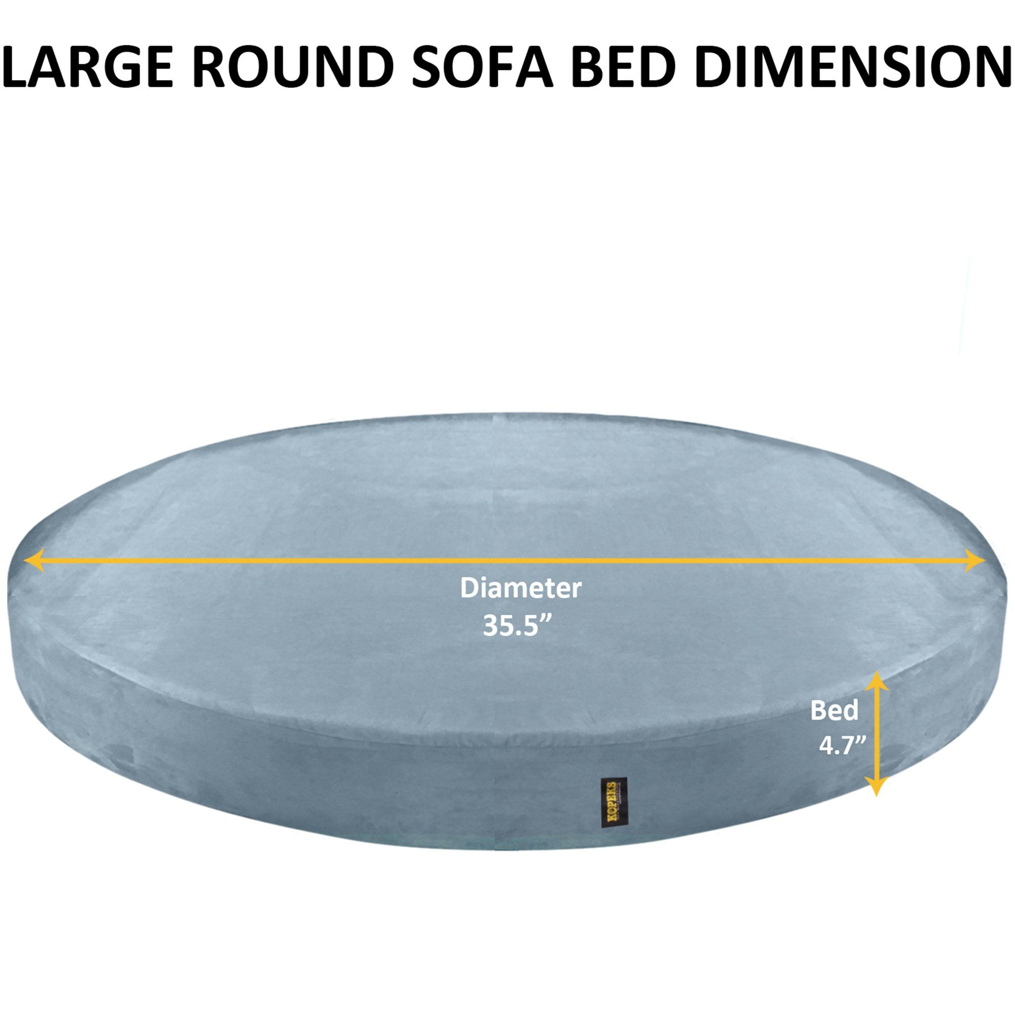 Kopeks Orthopedic Memory Foam Round Grey Bed For Dogs 50 D X