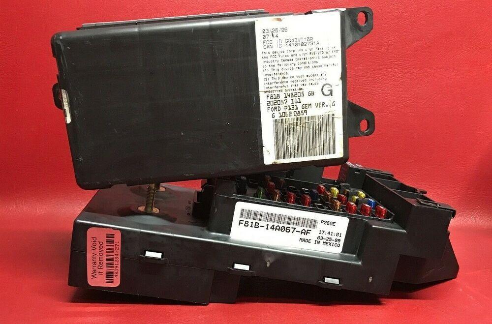 (sponsored ebay) 1999 99 2000 00 ford f350 super duty v10 dash fuse box