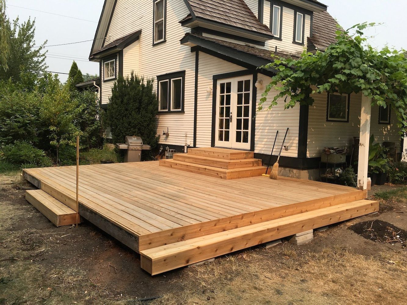 How To Build A Cedar Deck Remodel With New Planter Box Benches Diy