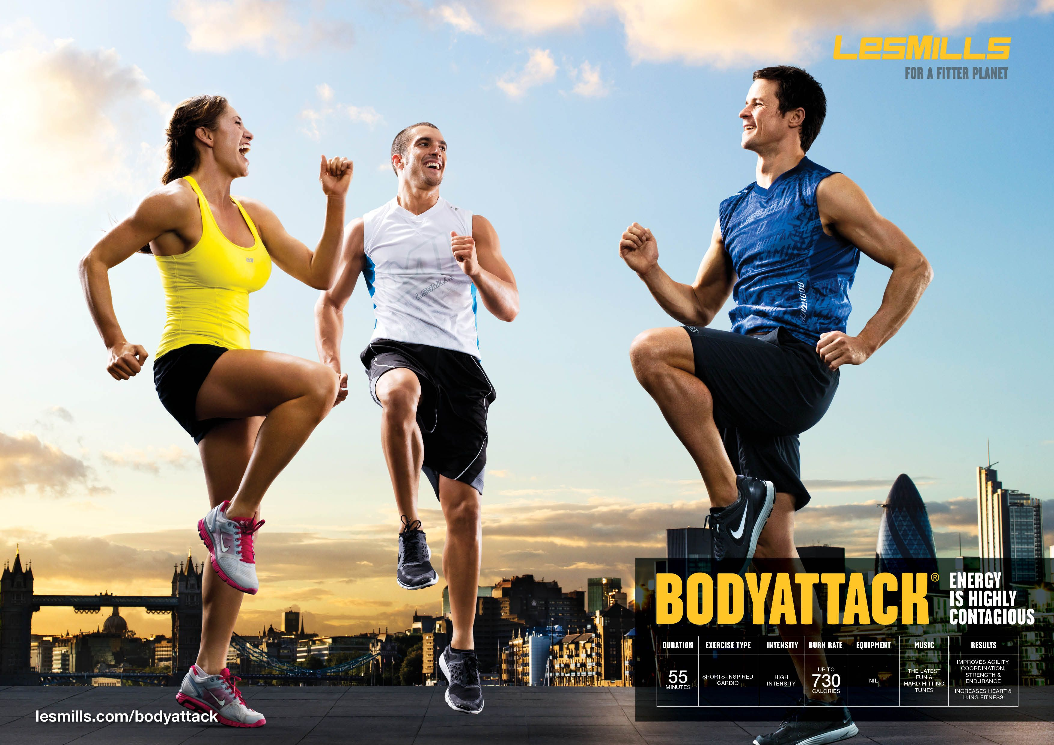 'Energy is Highly Contagious' Les Mills BodyAttack