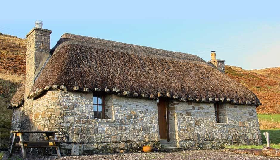 Scotland; Tigh Mairi Thatched Cottage Isle of Skye
