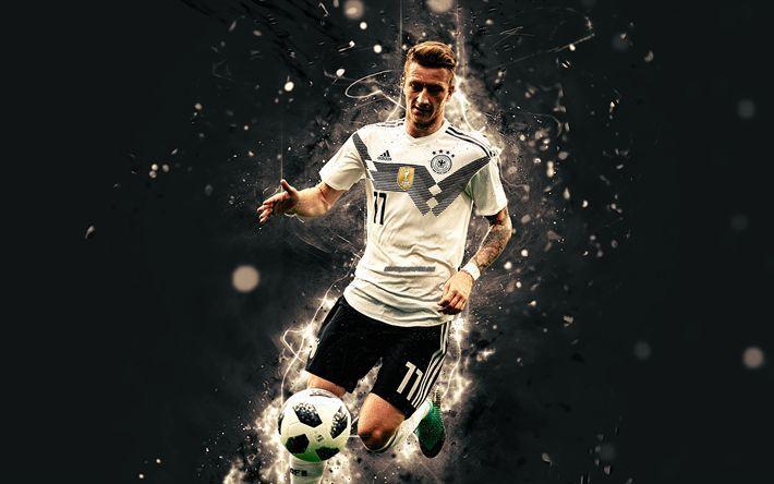 Download Wallpapers 4k Marco Reus Abstract Art Germany National Team Fan Art Reus Soccer Footballers Neon Lights German Football Team Besthqwallpaper
