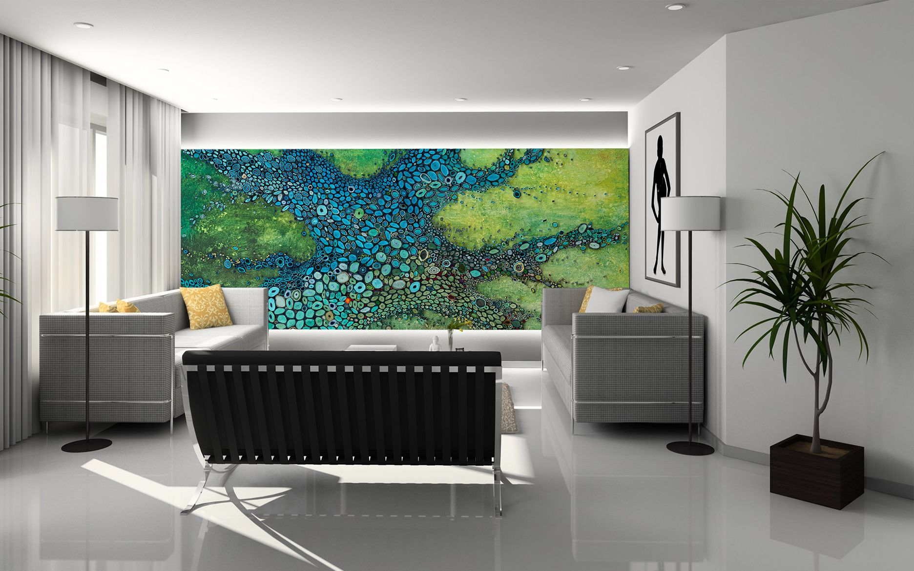 Part of our mural wall coverings showcasing fine artist