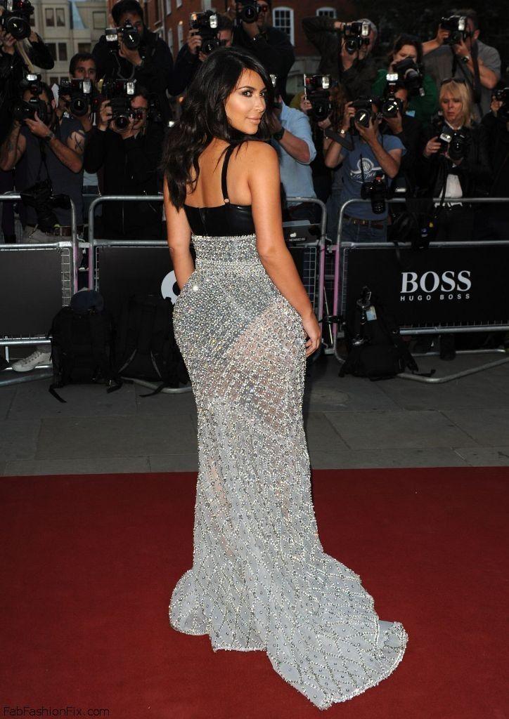 Kim Kardashian in Ralph & Russo Couture dress at 2014 GQ Men of The Year Awards in London. #kimkardashian
