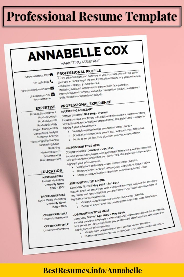 Resume Template Annabelle Cox | Template