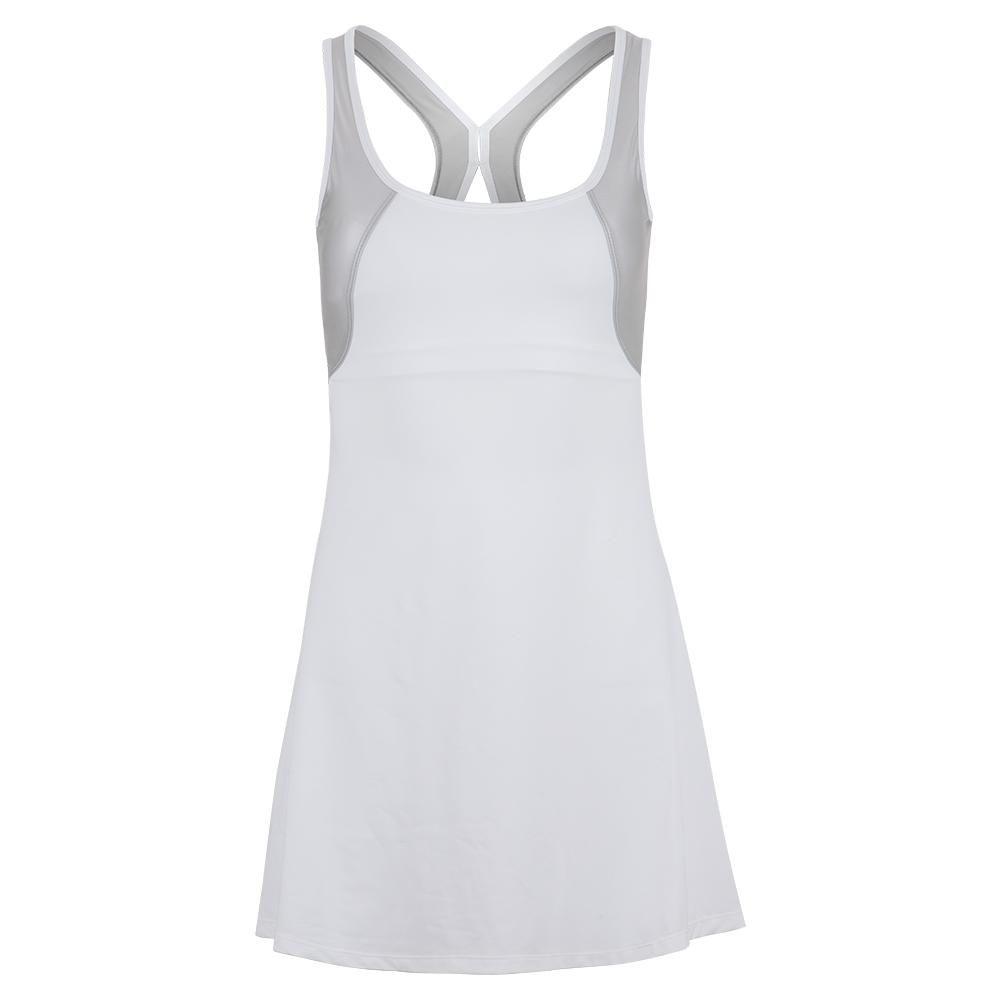 Tonic Women S Hazel Tennis Dress White And Silver 8136 319f19 Tennis Dress White Dress Dresses [ 1001 x 1001 Pixel ]