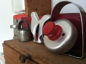 WildGooseChase's metal cookie cutters with wood handles