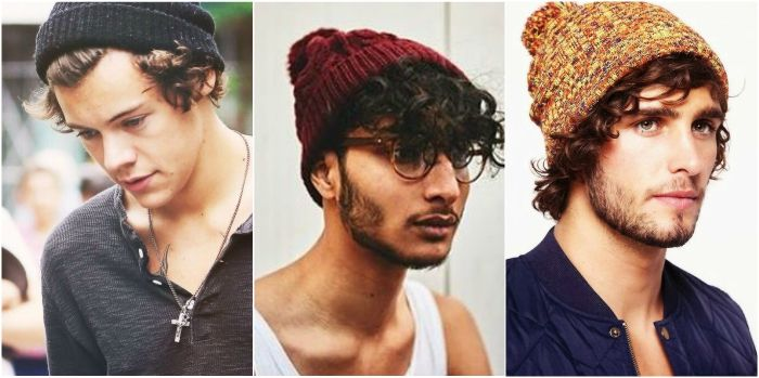 3fcd426d9 How to Wear a Beanie For Guys | Beanies | Mens beanie hats, Curly ...