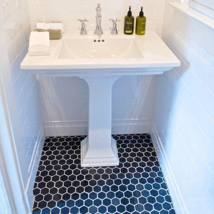 Pas cher Hot noir mat salle de bains carrelage mosaïque en noir en