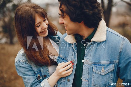 gentle and stylish couple are having a walk in the autumn park , #Sponsored, #couple, #stylish, #gentle, #park, #autumn #Ad