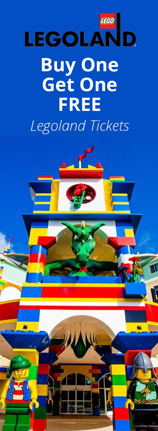 Right Now Legoland Is Offering A Buy One Adult Or Child Ticket Get One Free Offer Is Valid On Tickets To Any Legoland P With Images Legoland Legoland Park Cheap Vacation