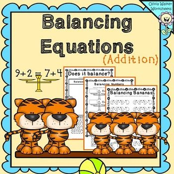Balancing Equations  Addition Worksheets And Printables