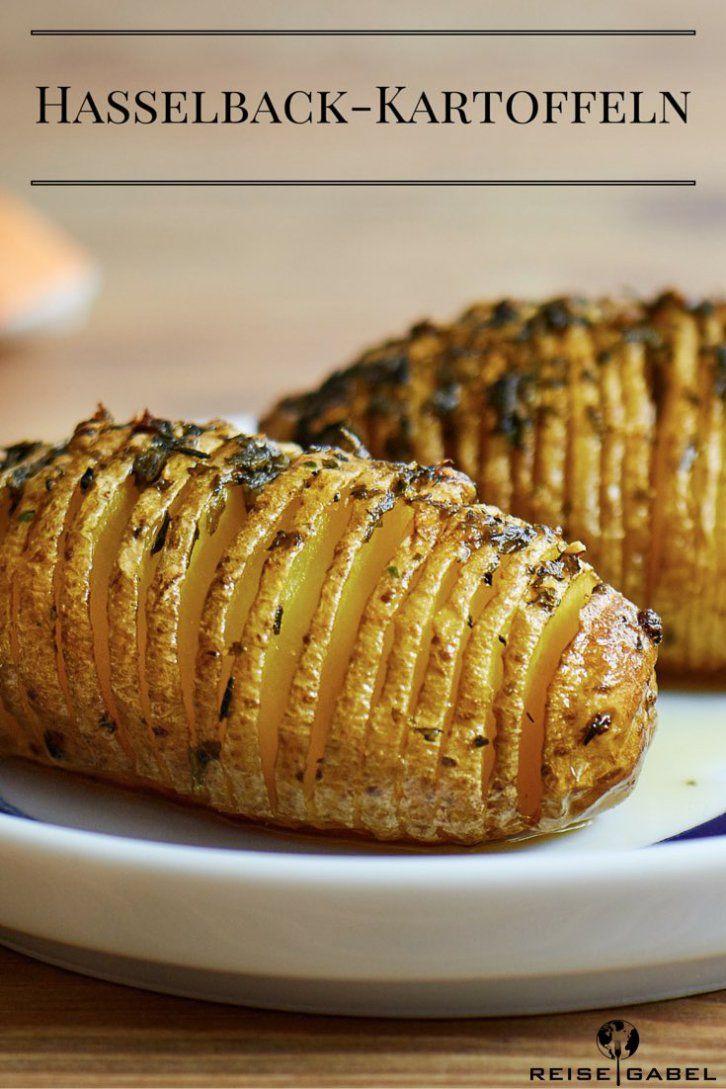 Hasselback-Kartoffeln mit Knoblauch und Thymian - Reisegabel
