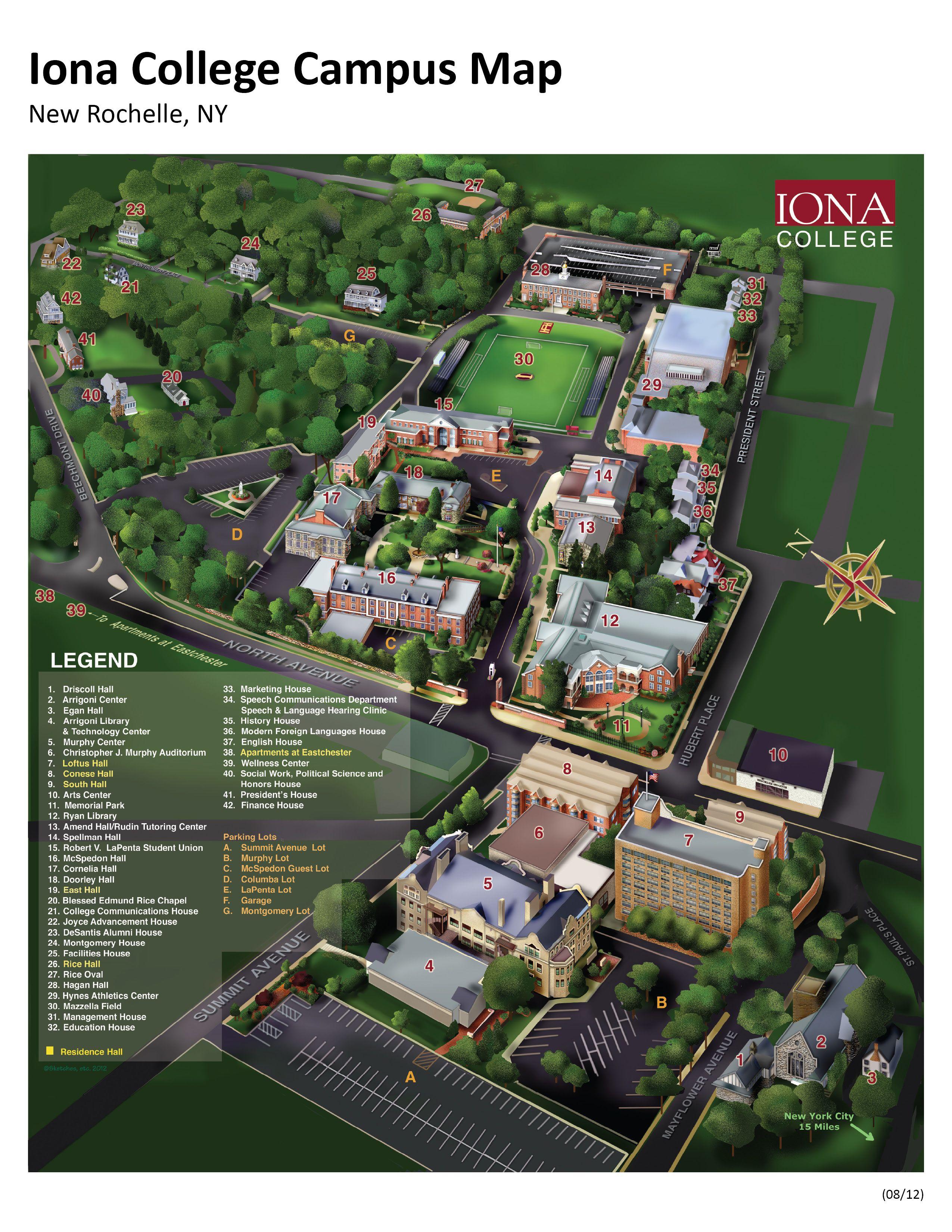 Iona College Map : college, College, Campus, University, Campus,