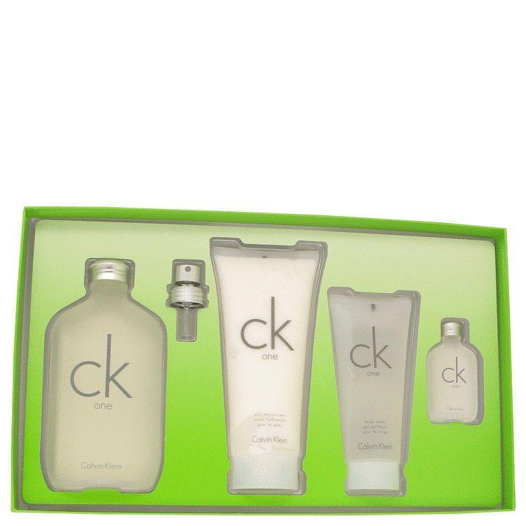 Ck One Gift Set 6.7 oz Eau De Toilette   Lotion CALVIN KLEIN for MEN WOMEN  4ps  CalvinKlein a4fb56e5b0