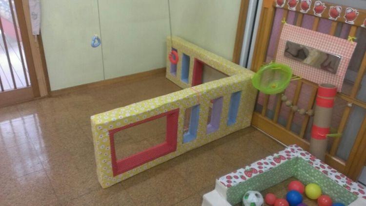 手作りおもちゃ ついに完成 Pawafurukitasenseiのブログ ベビーゲート 手作り 手作りおもちゃ 牛乳パック 手作りおもちゃ 保育園