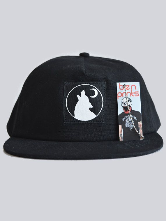 62a379dff04 Wolf Moon Snapback By Ben Prints On Etsy.