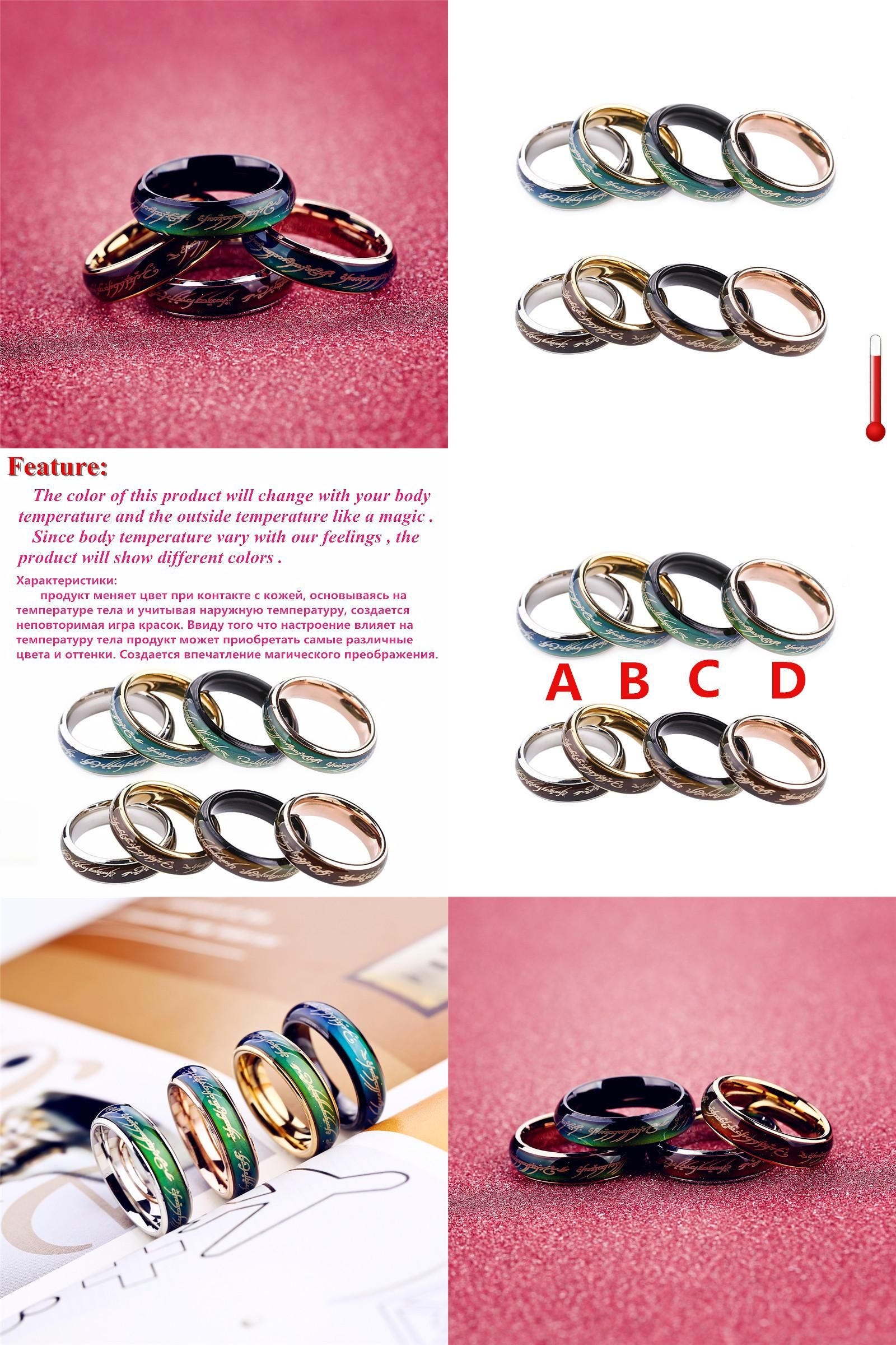 Visit to Buy] Stainless Steel Titanium Ceramic ring the rings for ...