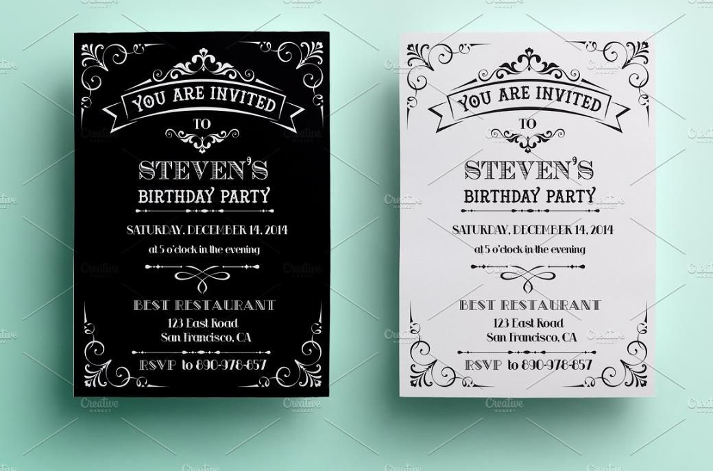 25 Premium Birthday Party Invitation Templates Psd Indesign Word