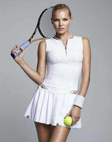 Elle Dress Gold Zipper Tennis Clothes Tennis Dress Sport Outfits