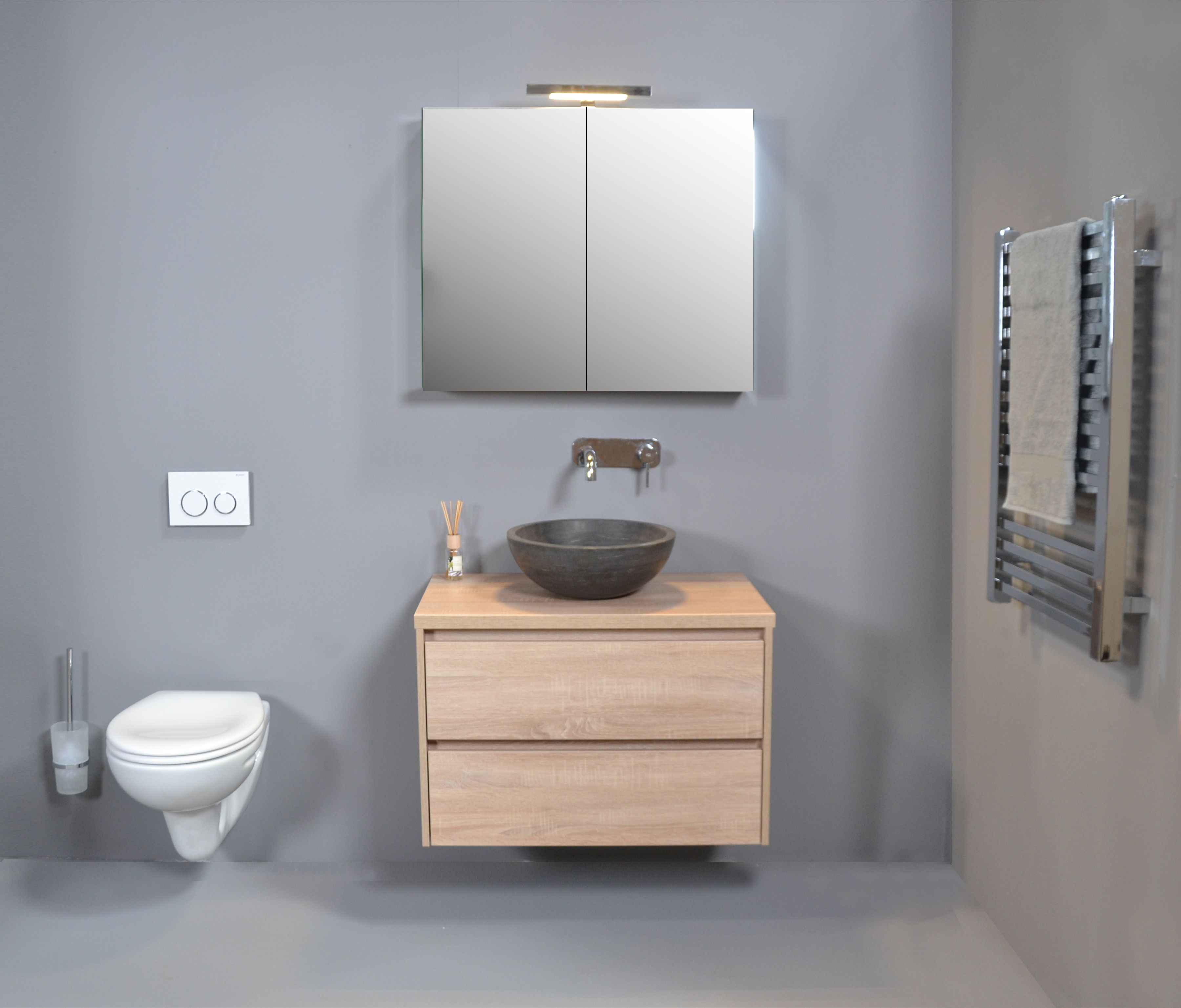 Proline - Opbouw kom hardstenen badkamer - wastafel - proline ...