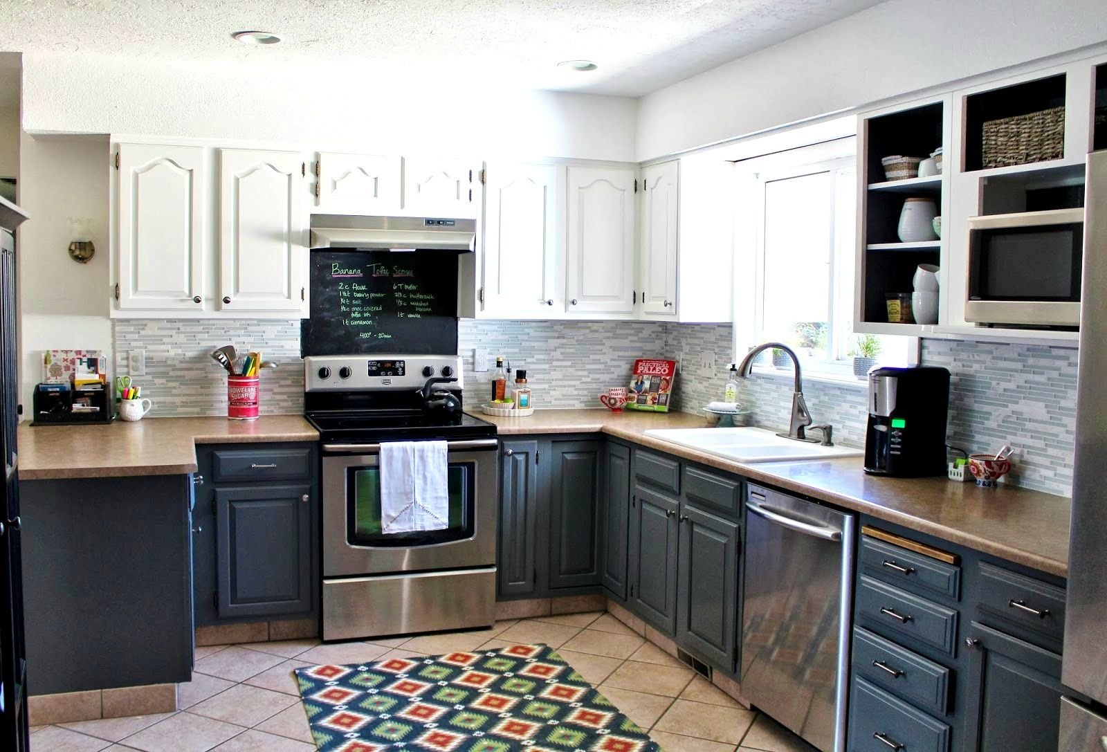 Apartments Amusing Ideas About Gray Kitchen Cabinets Slate Grey Aefdffecdcad White And Wood With B Gray And White Kitchen White Kitchen Makeover Kitchen Design