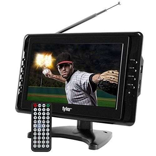 Portable TV 10 Inch Widescreen LCD Digital Tuner Travel Gift With Speaker Black