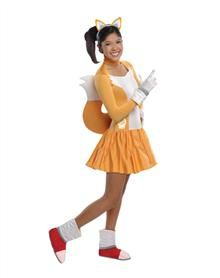 sonic the hedgehog tails girls teen costume - Girls Teen Halloween Costumes