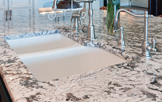 Loving The White Sink With The Bianco Antico Granite