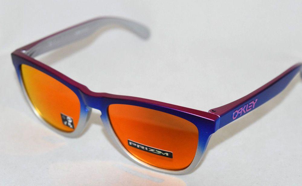 d38ed840ee eBay  Sponsored NEW OAKLEY FROGSKINS OO9013-F155 SPLATTERFADE BLUE PINK W   PRIZM RUBY LENS
