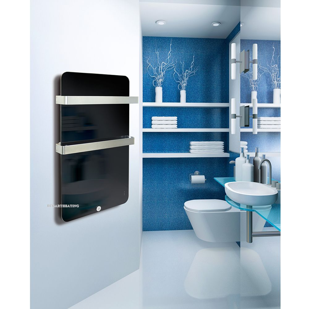 Vertical wall mounted Electric Bathroom Radiator panel with Two ...
