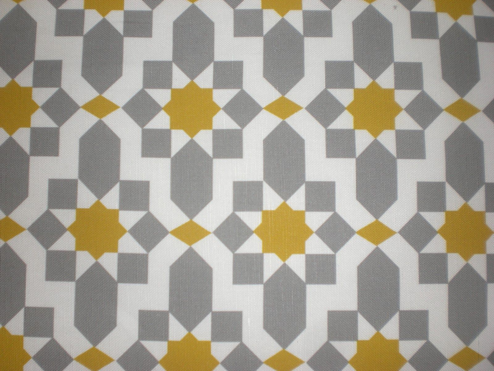 Smart Yet Whimsical Fabric Pattern With A Bold Yellow For