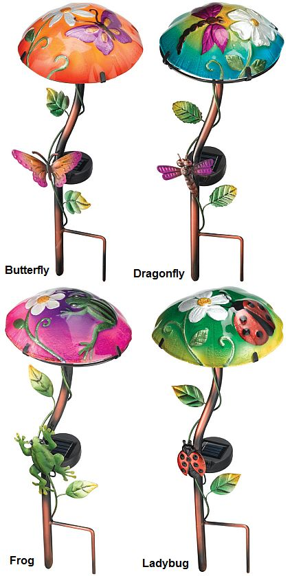 Solar Light Mushroom Stake, Solar Powered Garden Stakes, Whimsical Solar  Garden Stakes At Songbird Garden