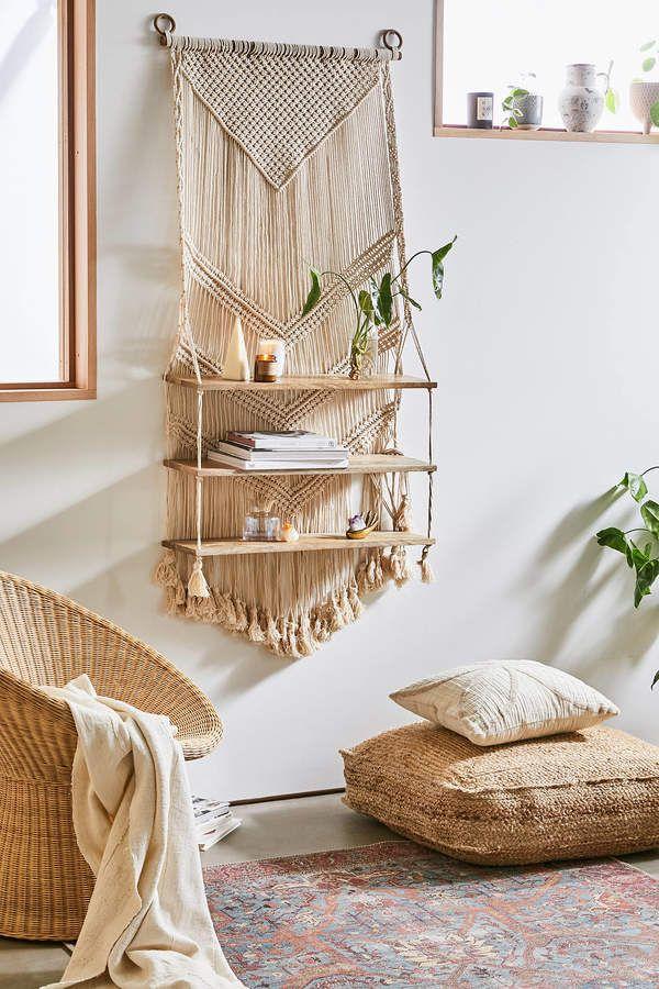 Marina Macramé Wall Shelf