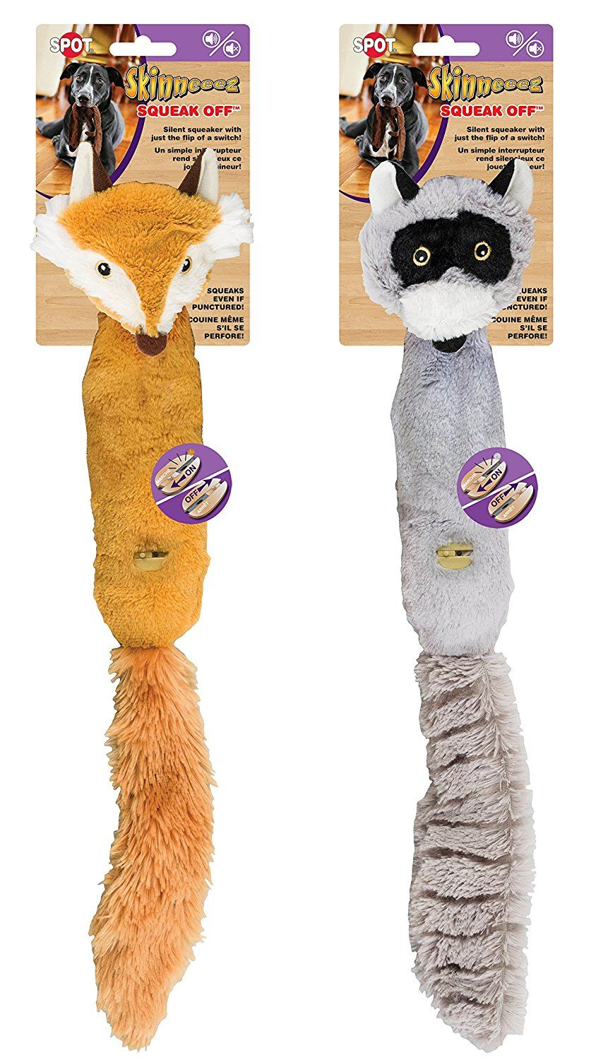 Ethical Pets Plush Skinneeez Fox 14 Inch Stuffingless Dog And Cat