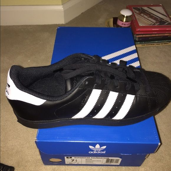 Adidas black superstars new with original box
