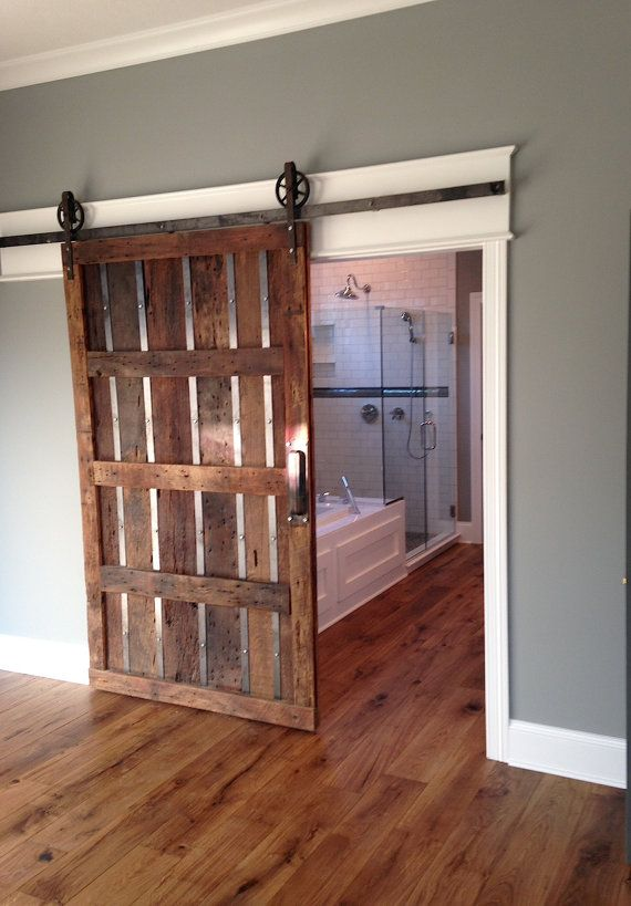 This Is A Beautiful 5 8 Foot Rustic Steel Sliding Barn Door Hardware Set Made In The Usa From High Quality Lifetime Warranty Includes